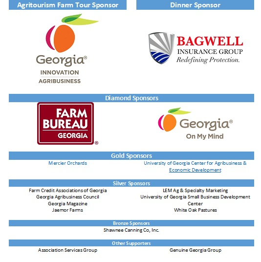 2018 GA Agritourism Annual Conference Sponsors